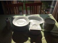 White dishes sets