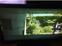 """40 """" umc tv with free view USB ports 3 hdmi ports stand and remote"""
