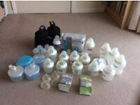 Tommee Tippee bottles and accessories bundle