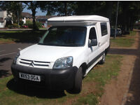 Romahome HyLo Duo 2 Berth Citroen Berlingo 1.9D with 4 Belted seats,