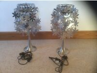 Table lamps x2 both in excellent condition .