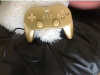 Nintendo Wii classic gold controller