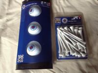 GOLF BALL + GOLF TEES....GLASGOW RANGERS