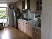 Limed Oak kitchen units for sale. Made by Magnet. Complete with worktop & sink.