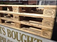 Euro pallets ideal for d.i.y.