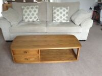 ERCOL MINERVA COFFEE TABLE IN GOLDEN DAWN