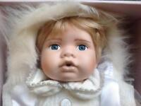 Leonardo Collection Porcelain Baby Doll - brand new & boxed