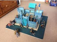 Play Castle with accessory knight and horse figures and boxed