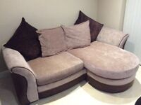 Sofa with chaise