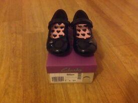 Brand New Girls Clarks School Shoe Size 9