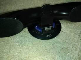 JVC speakers with ipod docking station