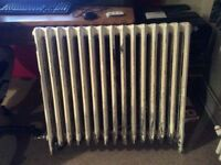2 cast iron radiators