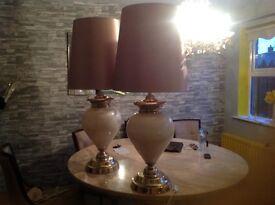 2 beautiful lamps