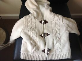 Baby girl fleece lined cardigan/jacket 3/6 months