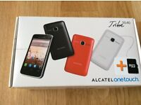 NEW - STILL IN ITS ORIGINAL BOX - ALCATEL one touch TRIBE 30-40 MOBILE PHONE