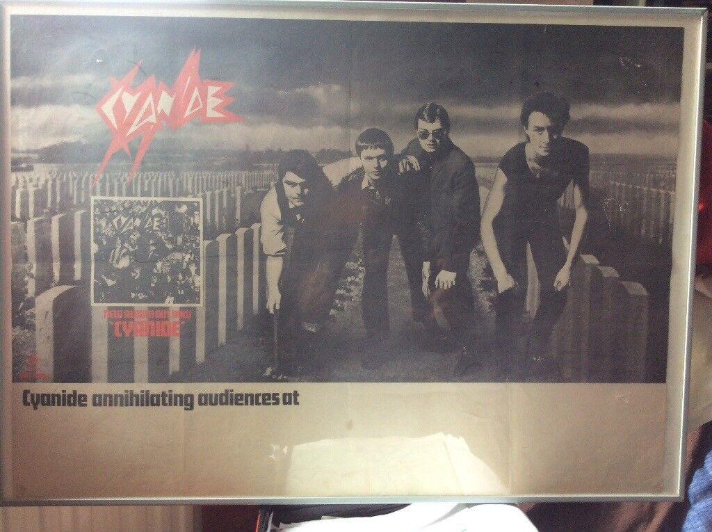 Cyanide - Ultra rare and original Punk tour poster