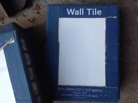 White wall tiles - 3 unopened boxes