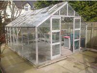 Elite Supreme 14x10 Greenhouse wth staging