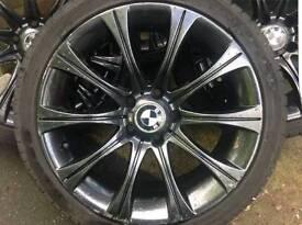 Bmw 18 inch m3 alloys wheels with tyres e46 e90 e92 e60 etc