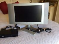 """Television, 17"""" Screen with Freeview Box"""
