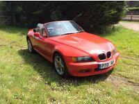BMW Z3 IN HELLROT
