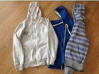 THREE MENS ZIP HOODIE TOPS - SIZE SMALL