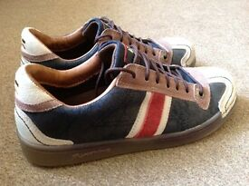 Sunshine Red, White, Blue & Brown Trainers Size 6