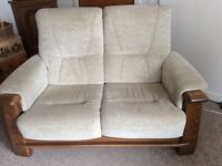 Norwegian made two seater sofa and two armchairs
