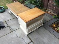 Solid wood painted tv unit and coffee table