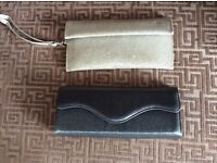 X2 small clutch/purse bags .1. gold 1.silver grey
