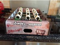 Zombies vs soldiers table football