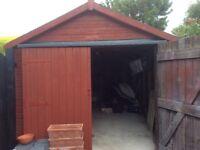 Single Wooden Garage