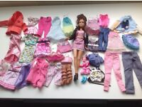 Barbie doll with clothes