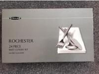 Rochester by Stellar - 24 piece stainless steel cutlery set