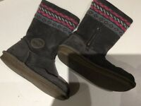 Clarks - Grey Suede Girls Boots