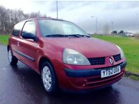 Trade in to clear 2002 Renault Clio 1.1 mot until Oct ideal first time car