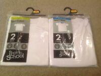 Four White Age 7-8 Sport T Shirts