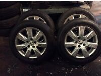 Full set of VW Alloys with tyres like brand new
