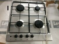 Integrated Gas Hob With Cast Iron Pan Stands Stainless Steel - Bosch - used - 4 burner
