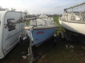 19ft sailing boat with trailer