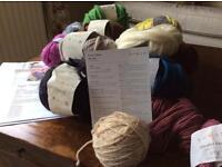 Bundle assorted knitting Wool.