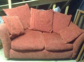 2 seater sofa , excellent condition , russet colour