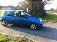 bargain lovely renault clio 2003 year alloy wheel 1.1cc 12 mot for 1 year cheap to run and insure