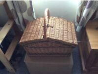 Wicker Picnic basket - Two coloured