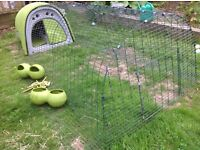 Eglu - Omlet Eglu chicken coop / rabbit or Guinea pig hutch with 2m run. VGC with accessories