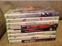 Bundle of X Box 360 Games