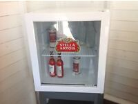 STELLA ARTOIS SMALL BAR FRIDGE. BRILL CONDITION.