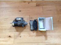 Hyundai starter motor and Front brake pads