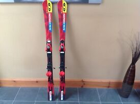 Kids Salomon 130 equipe skis. Excellent condition including bindings.
