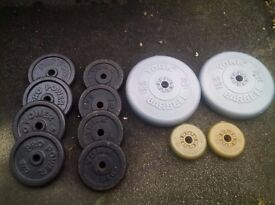 York Fitness Four Standard Cast Iron Disc Set (5kg each)
